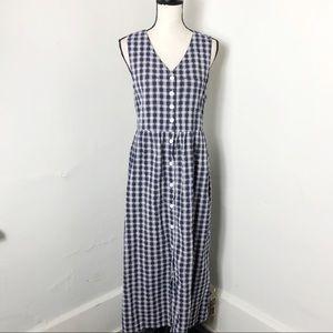 Vintage Erika & Co Plaid Button Down Cotton Dress